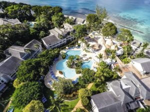 Top down view of THE CLUB BARBADOS RESORT AND SPA